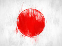 Painted Japan flag Royalty Free Stock Image