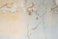 Painted knackte Wandbeschaffenheit Lizenzfreies Stockbild