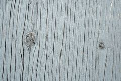 Painted knotty wood texture. Painted cracked and knotty wood texture - detail of a wall stock photography