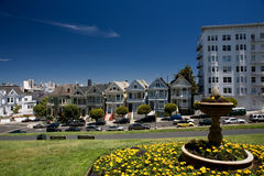 Painted Ladies. Historic Painted Ladies at Alamo Square, San Francisco, California Royalty Free Stock Photos