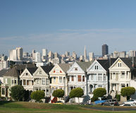 The Painted Ladies. The famous painted ladies of San Francisco Stock Photo