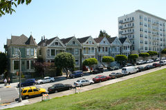 Painted Ladies Alamo Square Stock Photos
