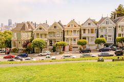 The Painted Ladies at Alamo Square, San Francisco royalty free stock photo