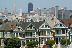 The painted ladies of Alamo square Stock Image