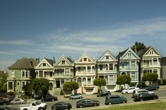 Painted Ladies Buildings in San Francisco Royalty Free Stock Images