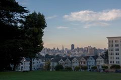 Painted ladies San Francisco, USA stock photography