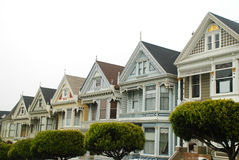 Painted ladies houses in San Francisco Stock Photos