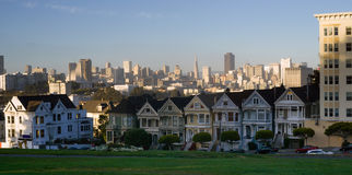 Painted Ladies Residential Homes Alamo Park San Francisco Stock Images