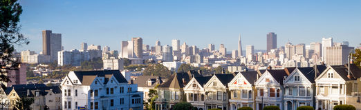 Painted Ladies Residential Homes Alamo Park San Francisco Stock Photo