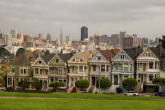 Painted Ladies Row Houses San Francisco Royalty Free Stock Photos
