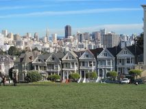 Painted Ladies Rowhouses in San Francisco Stock Image
