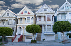 Painted Ladies  San Francisco. Painted Ladies colorful victorian houses near Alamo Square, San Francisco, California Stock Image