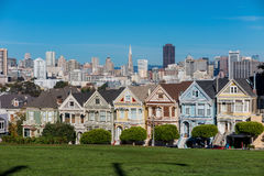 The Painted Ladies of San Francisco Alamo Square Victorian house. S at California USA Stock Photo