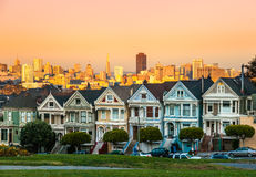 The Painted Ladies of San Francisco, California Royalty Free Stock Photos