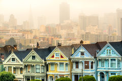Painted ladies of San Francisco, California, USA. Royalty Free Stock Photography