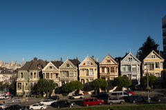 The Painted Ladies in San Francisco Royalty Free Stock Photo