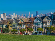 The Painted Ladies of San Francisco Royalty Free Stock Images