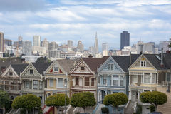 Painted Ladies in San Francisco Royalty Free Stock Photography