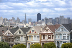 Painted Ladies in San Francisco Stock Photos