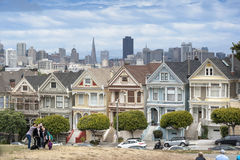 Painted Ladies in San Francisco Stock Images