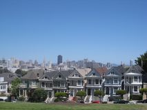 `The Painted Ladies` of San Francisco stock image