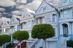 Painted Ladies: victorian houses Stock Photos
