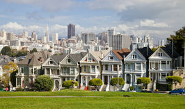 Painted Ladies Victorian houses, San Francisco, USA Royalty Free Stock Photography