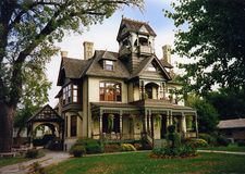 Painted lady. Victorian home in wisconsin Royalty Free Stock Photo