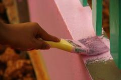 Painted leak in rural schools. Rural Development Camp Royalty Free Stock Photos