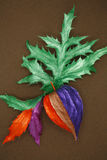 Painted leaves and fruit Royalty Free Stock Photography