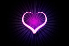 Painted light heart Royalty Free Stock Photos