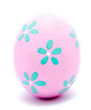 Painted lilac easter egg isolated Royalty Free Stock Images