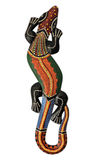 Painted lizard stock image
