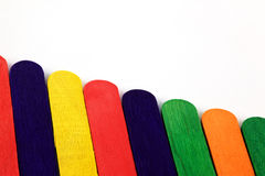 Painted lolly sticks Royalty Free Stock Photo