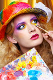 Painted make up Stock Image