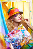 Painted make up Royalty Free Stock Photography