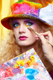 Painted make up Stock Images