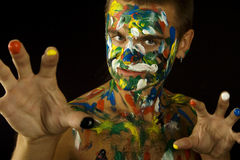 Painted Man Stock Image