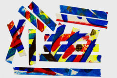 Painted Masking Tape. A collection of colorful abstract painted masking tape pieces Royalty Free Stock Image
