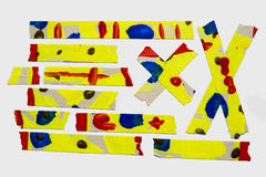Painted Masking Tape Royalty Free Stock Images