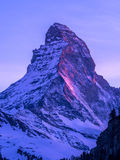 Painted Matterhorn Royalty Free Stock Images