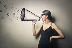 Painted megaphone Stock Photos