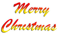 Painted Merry Christmas Sign Royalty Free Stock Images