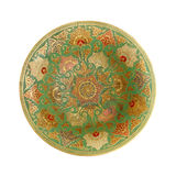 Painted metal plate. Stock Images