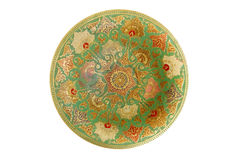 Painted metal plate  with white background. Royalty Free Stock Photos