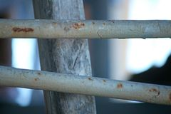RUSTED METAL RAILING Stock Image
