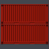 Painted metal red iron wagons containers Royalty Free Stock Photo