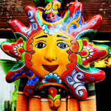 Painted Mexican Sun Royalty Free Stock Photography