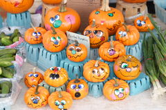 Painted Mini Pumpkins Stock Photography