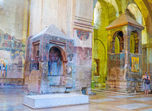 The painted monuments in Svetitskhoveli Cathedral Stock Photography